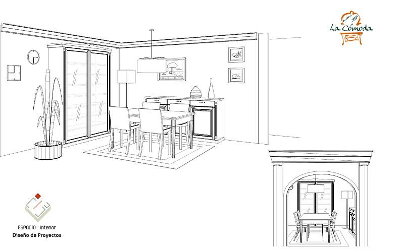 Medidas de muebles diseno y medidas muebles de cocina for Mobiliario para comedor