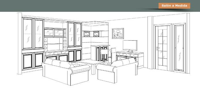 La c moda muebles a medida dormitorio sal n comedor - Muebles en la coruna ...