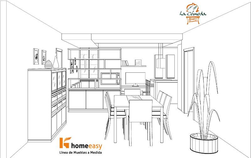 Medidas de muebles columnas para cocinas muebles de - Medidas mesa de comedor ...